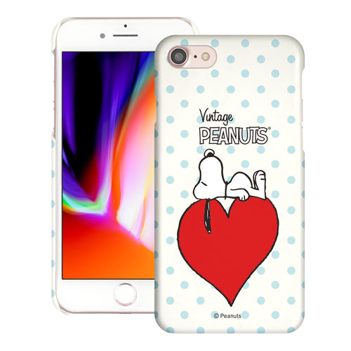iPhone SE 2020 / iPhone 8 / iPhone 7 Case (4.7inch) [Slim Fit] PEANUTS Thin Hard Matte Surface Excellent Grip Cover - Smack Snoopy Heart