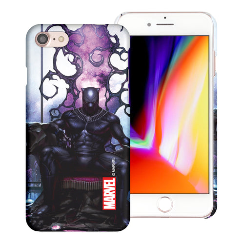 iPhone 8 Plus / iPhone 7 Plus Case Marvel Avengers [Slim Fit] Thin Hard Matte Surface Excellent Grip Cover - Black Panther Sit