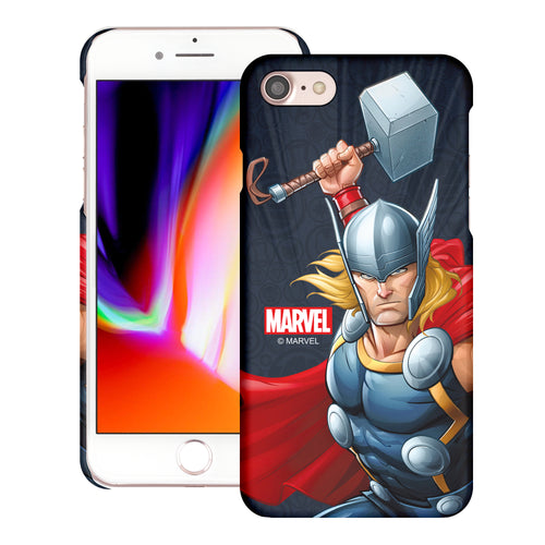 iPhone 8 Plus / iPhone 7 Plus Case Marvel Avengers [Slim Fit] Thin Hard Matte Surface Excellent Grip Cover - Illustration Thor