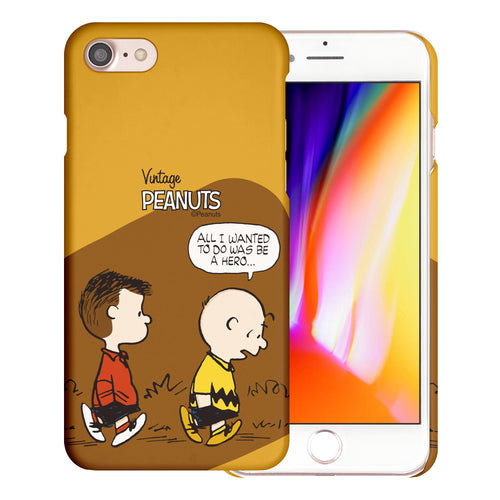 iPhone SE 2020 / iPhone 8 / iPhone 7 Case (4.7inch) [Slim Fit] PEANUTS Thin Hard Matte Surface Excellent Grip Cover - Cartoon Hero