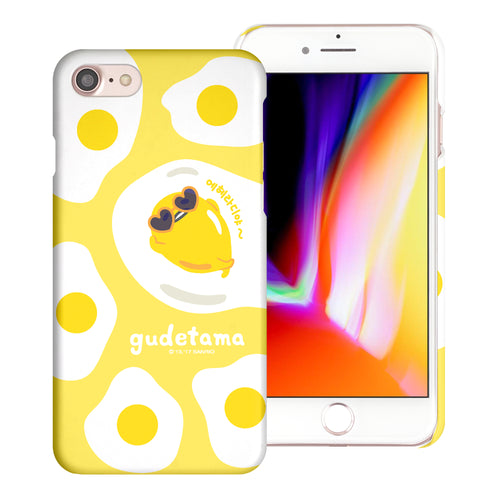 iPhone 6S / iPhone 6 Case (4.7inch) [Slim Fit] Sanrio Thin Hard Matte Surface Excellent Grip Cover - Rest Gudetama Yellow