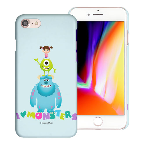 iPhone 8 Plus / iPhone 7 Plus Case [Slim Fit] Monsters University inc Thin Hard Matte Surface Excellent Grip Cover - Simple Together