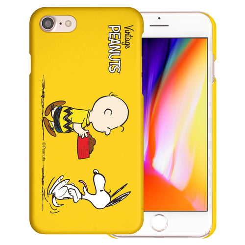 iPhone SE 2020 / iPhone 8 / iPhone 7 Case (4.7inch) [Slim Fit] PEANUTS Thin Hard Matte Surface Excellent Grip Cover - Cute Snoopy Food