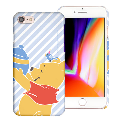 iPhone SE 2020 / iPhone 8 / iPhone 7 Case (4.7inch) [Slim Fit] Disney Pooh Thin Hard Matte Surface Excellent Grip Cover - Stripe Pooh Bird