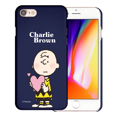 iPhone SE 2020 / iPhone 8 / iPhone 7 Case (4.7inch) [Slim Fit] PEANUTS Thin Hard Matte Surface Excellent Grip Cover - Charlie Brown Big Heart