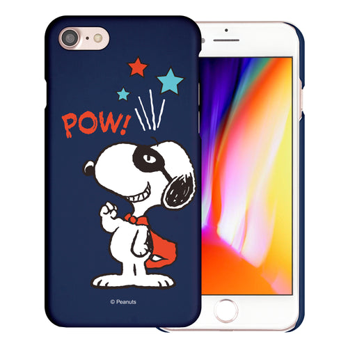 iPhone 6S / iPhone 6 Case (4.7inch) [Slim Fit] PEANUTS Thin Hard Matte Surface Excellent Grip Cover - Snoopy Pow Navy
