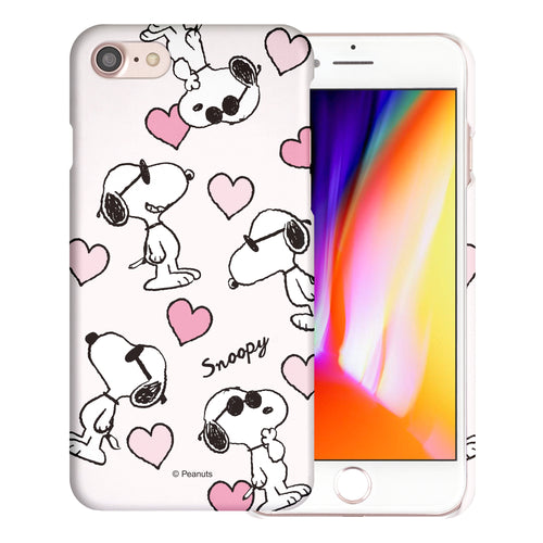 iPhone 6S / iPhone 6 Case (4.7inch) [Slim Fit] PEANUTS Thin Hard Matte Surface Excellent Grip Cover - Snoopy Heart Pattern