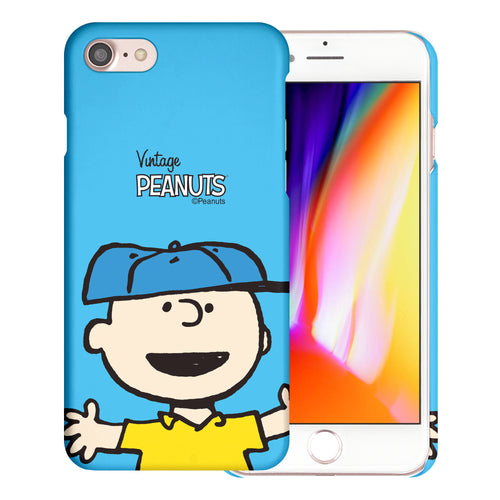 iPhone SE 2020 / iPhone 8 / iPhone 7 Case (4.7inch) [Slim Fit] PEANUTS Thin Hard Matte Surface Excellent Grip Cover - Face Charlie Brown