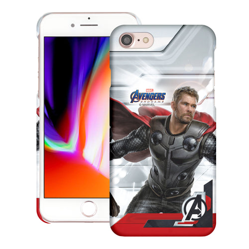 iPhone 8 Plus / iPhone 7 Plus Case Marvel Avengers [Slim Fit] Thin Hard Matte Surface Excellent Grip Cover - End Game Thor