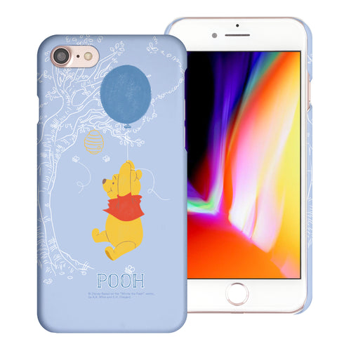 iPhone SE 2020 / iPhone 8 / iPhone 7 Case (4.7inch) [Slim Fit] Disney Pooh Thin Hard Matte Surface Excellent Grip Cover - Balloon Pooh Sky