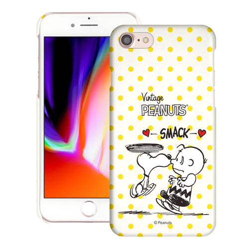 iPhone SE 2020 / iPhone 8 / iPhone 7 Case (4.7inch) [Slim Fit] PEANUTS Thin Hard Matte Surface Excellent Grip Cover - Smack Snoopy Charlie Brown