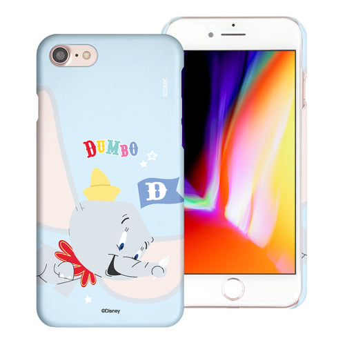 iPhone SE 2020 / iPhone 8 / iPhone 7 Case (4.7inch) [Slim Fit] Disney Dumbo Thin Hard Matte Surface Excellent Grip Cover - Dumbo Fly