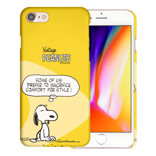 iPhone SE 2020 / iPhone 8 / iPhone 7 Case (4.7inch) [Slim Fit] PEANUTS Thin Hard Matte Surface Excellent Grip Cover - Cartoon Snoopy Style
