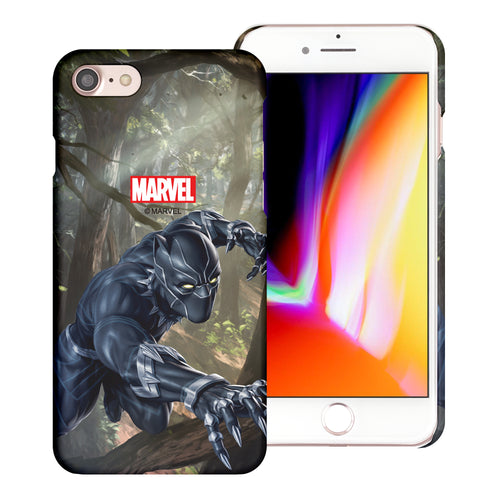 iPhone 8 Plus / iPhone 7 Plus Case Marvel Avengers [Slim Fit] Thin Hard Matte Surface Excellent Grip Cover - Black Panther Jungle