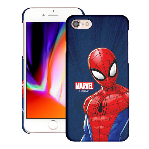 iPhone 8 Plus / iPhone 7 Plus Case Marvel Avengers [Slim Fit] Thin Hard Matte Surface Excellent Grip Cover - Illustration Spider Man