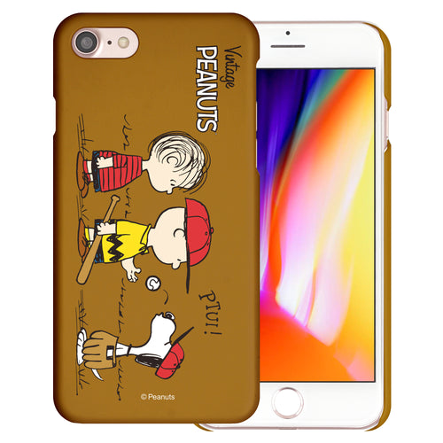 iPhone SE 2020 / iPhone 8 / iPhone 7 Case (4.7inch) [Slim Fit] PEANUTS Thin Hard Matte Surface Excellent Grip Cover - Cute Peanuts Baseball