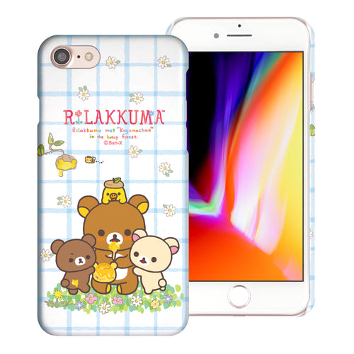 iPhone SE 2020 / iPhone 8 / iPhone 7 Case (4.7inch) [Slim Fit] Rilakkuma Thin Hard Matte Surface Excellent Grip Cover - Rilakkuma Honey