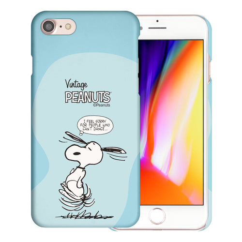 iPhone 6S / iPhone 6 Case (4.7inch) [Slim Fit] PEANUTS Thin Hard Matte Surface Excellent Grip Cover - Cartoon Snoopy Dance