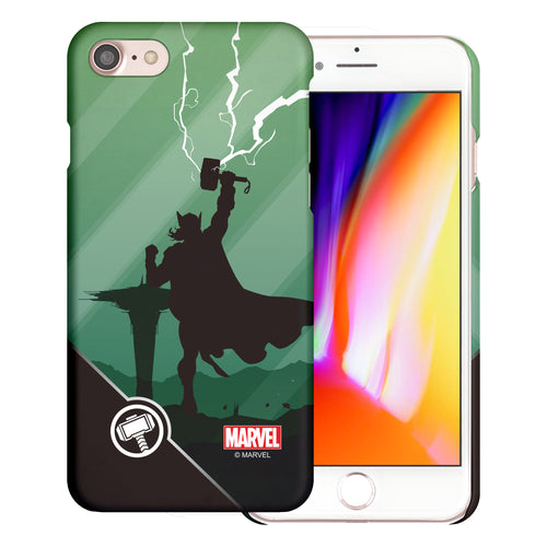iPhone 8 Plus / iPhone 7 Plus Case Marvel Avengers [Slim Fit] Thin Hard Matte Surface Excellent Grip Cover - Shadow Thor