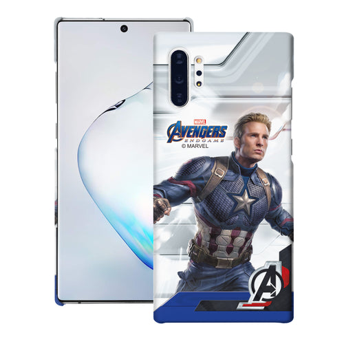 Galaxy Note10 Plus Case (6.8inch) Marvel Avengers [Slim Fit] Thin Hard Matte Surface Excellent Grip Cover - End Game Captain America