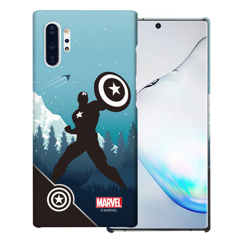 Galaxy Note10 Plus Case (6.8inch) Marvel Avengers [Slim Fit] Thin Hard Matte Surface Excellent Grip Cover - Shadow Captain America
