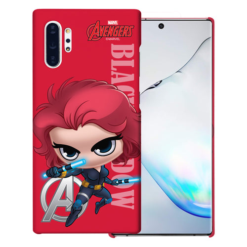 Galaxy Note10 Plus Case (6.8inch) Marvel Avengers [Slim Fit] Thin Hard Matte Surface Excellent Grip Cover - Mini Black Widow