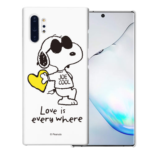 Galaxy Note10 Plus Case (6.8inch) [Slim Fit] PEANUTS Thin Hard Matte Surface Excellent Grip Cover - Snoopy Love Yellow
