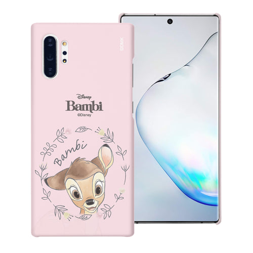 Galaxy Note10 Plus Case (6.8inch) [Slim Fit] Disney Bambi Thin Hard Matte Surface Excellent Grip Cover - Face Bambi
