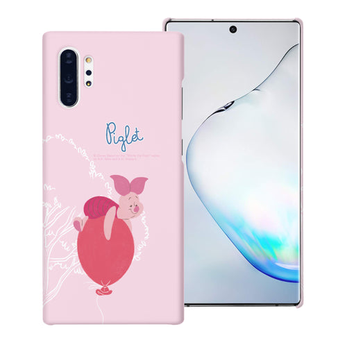 Galaxy Note10 Plus Case (6.8inch) [Slim Fit] Disney Pooh Thin Hard Matte Surface Excellent Grip Cover - Balloon Piglet