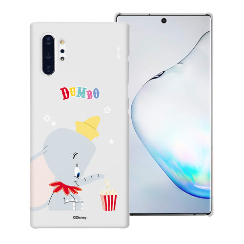 Galaxy Note10 Plus Case (6.8inch) [Slim Fit] Disney Dumbo Thin Hard Matte Surface Excellent Grip Cover - Dumbo Popcorn