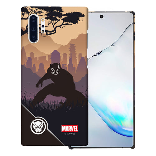 Galaxy Note10 Plus Case (6.8inch) Marvel Avengers [Slim Fit] Thin Hard Matte Surface Excellent Grip Cover - Shadow Black Panther