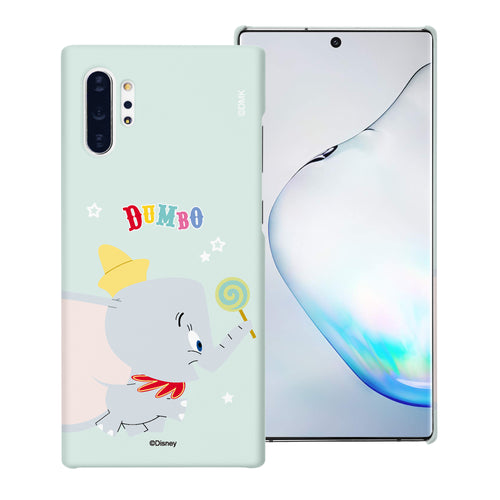 Galaxy Note10 Plus Case (6.8inch) [Slim Fit] Disney Dumbo Thin Hard Matte Surface Excellent Grip Cover - Dumbo Candy