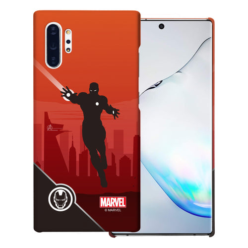 Galaxy Note10 Plus Case (6.8inch) Marvel Avengers [Slim Fit] Thin Hard Matte Surface Excellent Grip Cover - Shadow Iron Man