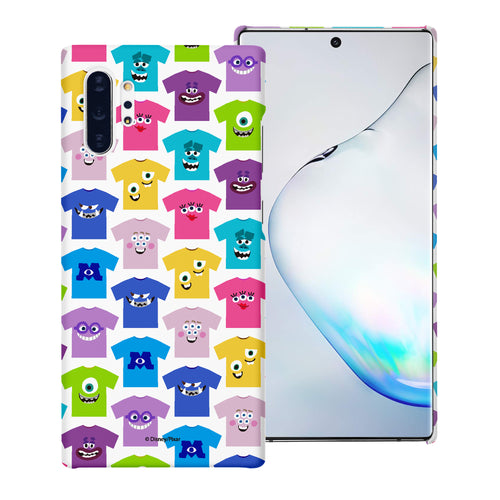 Galaxy Note10 Case (6.3inch) [Slim Fit] Monsters University inc Thin Hard Matte Surface Excellent Grip Cover - Pattern Shirts