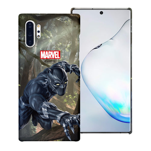 Galaxy Note10 Plus Case (6.8inch) Marvel Avengers [Slim Fit] Thin Hard Matte Surface Excellent Grip Cover - Black Panther Jungle