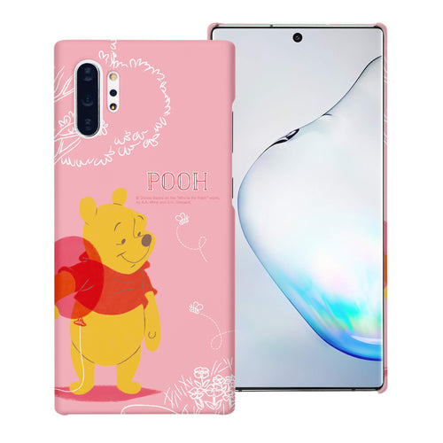 Galaxy Note10 Plus Case (6.8inch) [Slim Fit] Disney Pooh Thin Hard Matte Surface Excellent Grip Cover - Balloon Pooh Ground