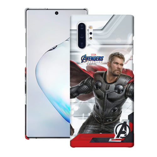 Galaxy Note10 Plus Case (6.8inch) Marvel Avengers [Slim Fit] Thin Hard Matte Surface Excellent Grip Cover - End Game Thor