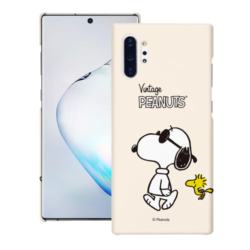 Galaxy Note10 Plus Case (6.8inch) [Slim Fit] PEANUTS Thin Hard Matte Surface Excellent Grip Cover - Vivid Snoopy Woodstock
