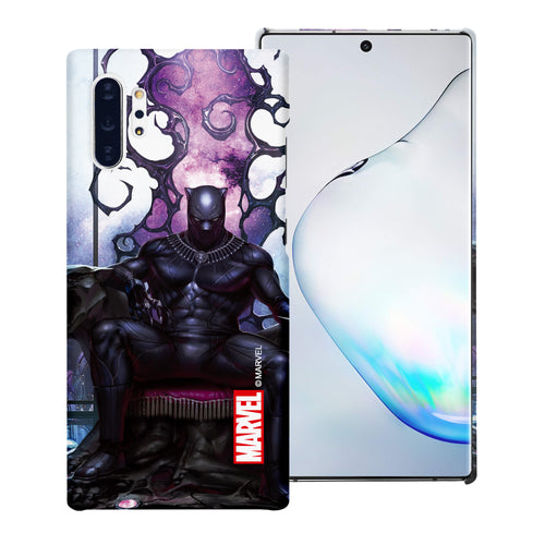Galaxy Note10 Plus Case (6.8inch) Marvel Avengers [Slim Fit] Thin Hard Matte Surface Excellent Grip Cover - Black Panther Sit