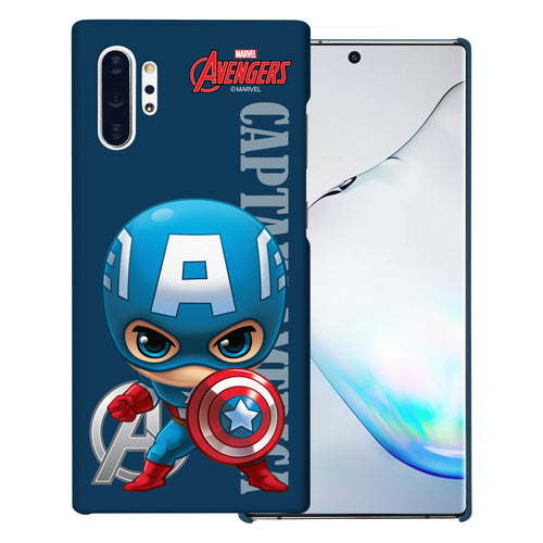 Galaxy Note10 Plus Case (6.8inch) Marvel Avengers [Slim Fit] Thin Hard Matte Surface Excellent Grip Cover - Mini Captain America