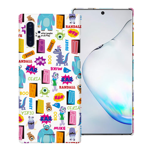 Galaxy Note10 Case (6.3inch) [Slim Fit] Monsters University inc Thin Hard Matte Surface Excellent Grip Cover - Pattern Name White