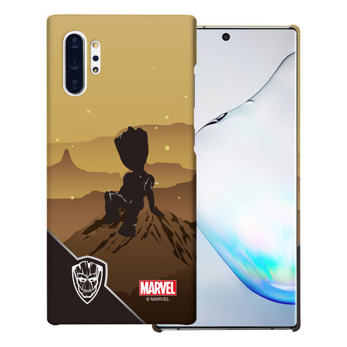 Galaxy Note10 Plus Case (6.8inch) Marvel Avengers [Slim Fit] Thin Hard Matte Surface Excellent Grip Cover - Shadow Groot