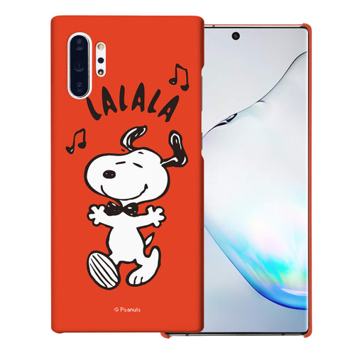 Galaxy Note10 Plus Case (6.8inch) [Slim Fit] PEANUTS Thin Hard Matte Surface Excellent Grip Cover - Snoopy Lalala