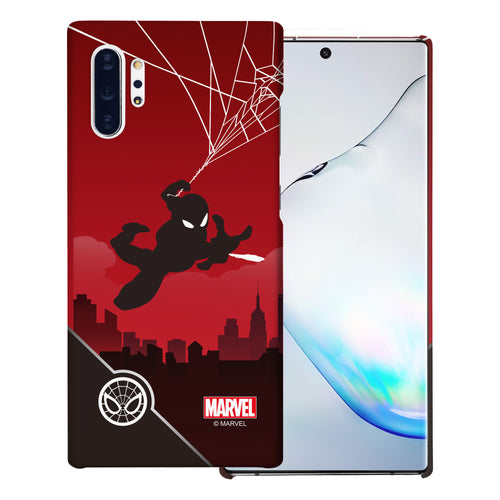 Galaxy Note10 Plus Case (6.8inch) Marvel Avengers [Slim Fit] Thin Hard Matte Surface Excellent Grip Cover - Shadow Spider Man