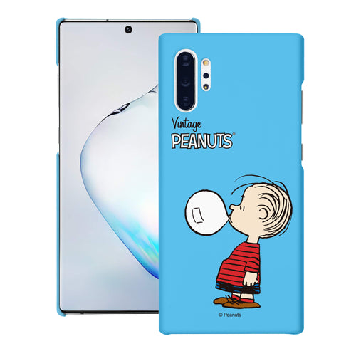 Galaxy Note10 Plus Case (6.8inch) [Slim Fit] PEANUTS Thin Hard Matte Surface Excellent Grip Cover - Simple Linus