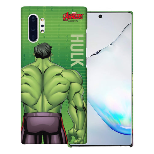Galaxy Note10 Plus Case (6.8inch) Marvel Avengers [Slim Fit] Thin Hard Matte Surface Excellent Grip Cover - Back Hulk