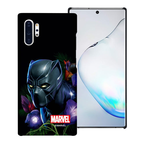 Galaxy Note10 Case (6.3inch) Marvel Avengers [Slim Fit] Thin Hard Matte Surface Excellent Grip Cover - Black Panther Face Black