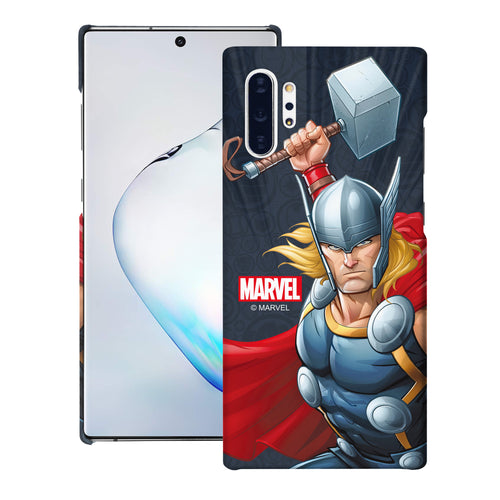 Galaxy Note10 Plus Case (6.8inch) Marvel Avengers [Slim Fit] Thin Hard Matte Surface Excellent Grip Cover - Illustration Thor