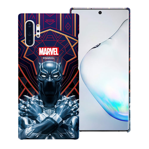 Galaxy Note10 Case (6.3inch) Marvel Avengers [Slim Fit] Thin Hard Matte Surface Excellent Grip Cover - Black Panther Face Lines