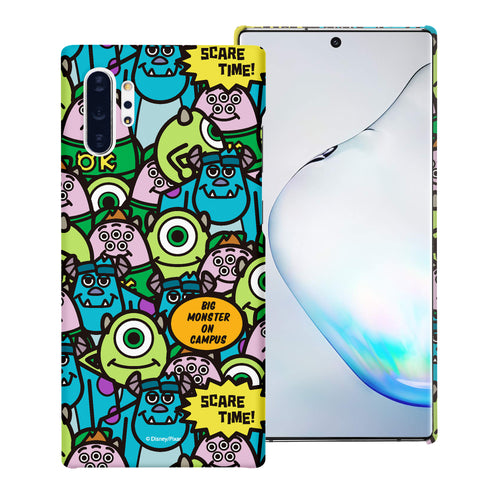 Galaxy Note10 Case (6.3inch) [Slim Fit] Monsters University inc Thin Hard Matte Surface Excellent Grip Cover - Pattern Face